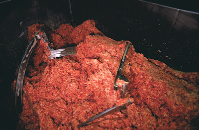 ground meat sawdust