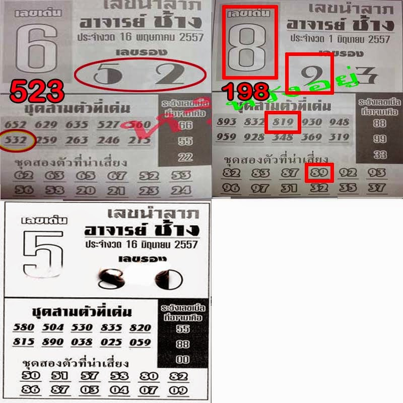 Thai Lottery VIP Tips | Thai lotto Best Exclusive paper 16-06-2014
