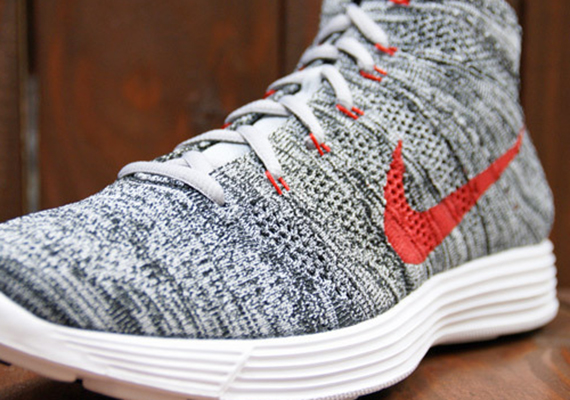 Kicks   Thoroness  Nike Flyknit Chukka (Wolf Grey Red White) 2f54cc3f2