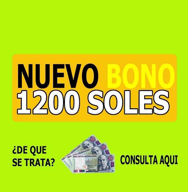 Bono Pensión de 1200 Soles