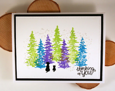 Bright Christmas Tree Card by Jess Gerstner featuring Newton's Nook Designs Whispering Pines