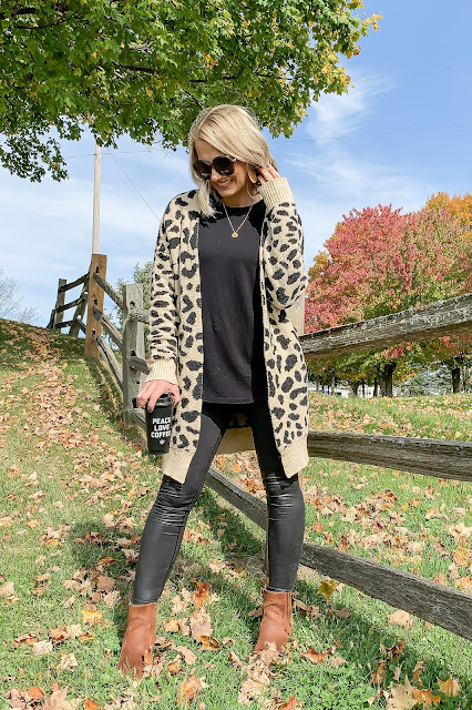 second-hand leopard cardigan