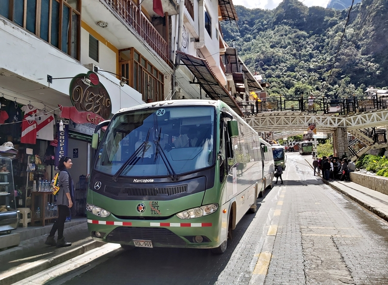 ônibus até Machu Picchu