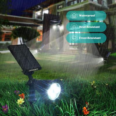 Solar Lights, 2-in-1 Waterproof 4 LED