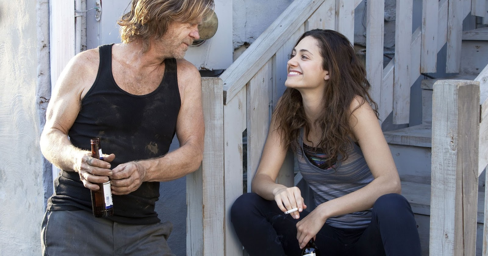William H Macy y Emmy Rossum en Shameless