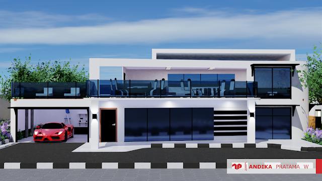 Minimalist House Scene