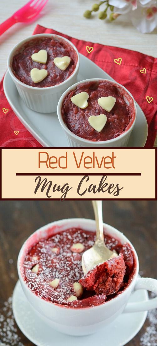 Red Velvet Mug Cakes #dessertrecipe #chocolatecake #cheesecake #cookiessimplerecipe
