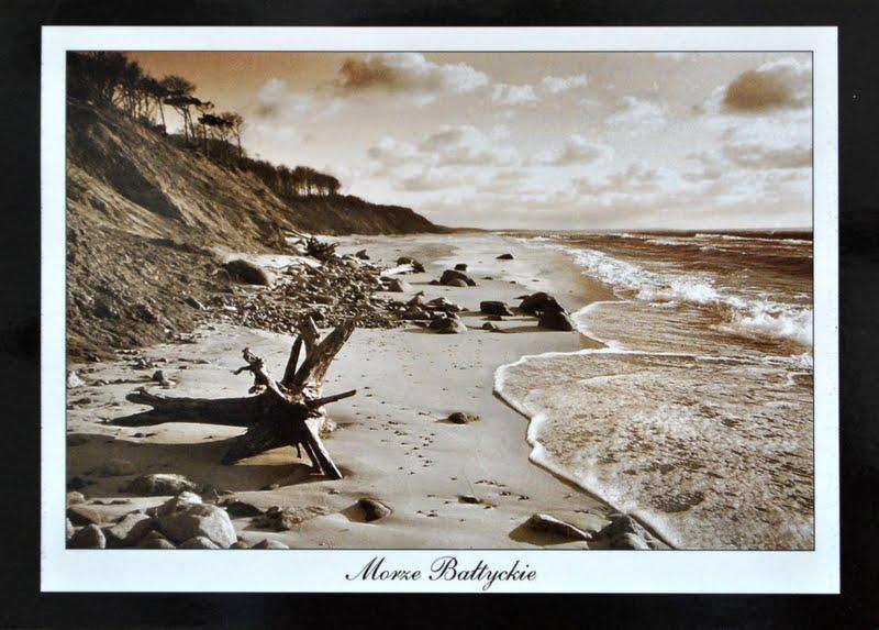 morze bałtyckie na pocztówce