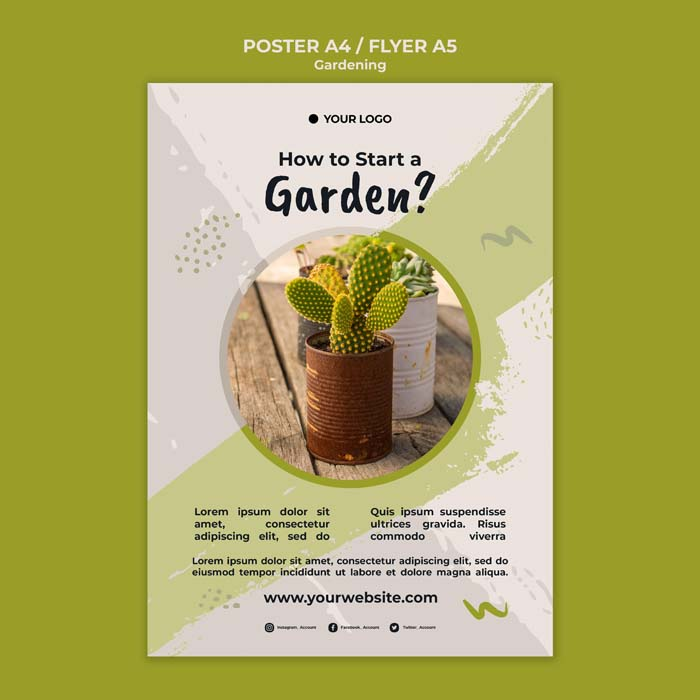 How Start Garden Poster Template