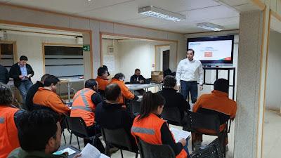 Supervisores de Caserones trabajan activamente en diferentes áreas