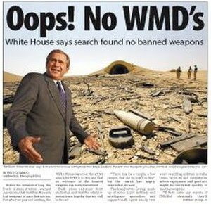 iraq invasion wmds Not only are most republicans misinformed over the wmds not being found, but a good portion of them continue to believe that obama is a foreigner sigh.