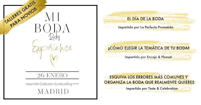 talleres para novios mi boda rocks experience madrid enero 2020