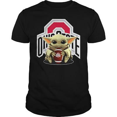 Baby Yoda hug Ohio State Buckeyes T Shirt Hoodie sweatshirt. GET IT HERE