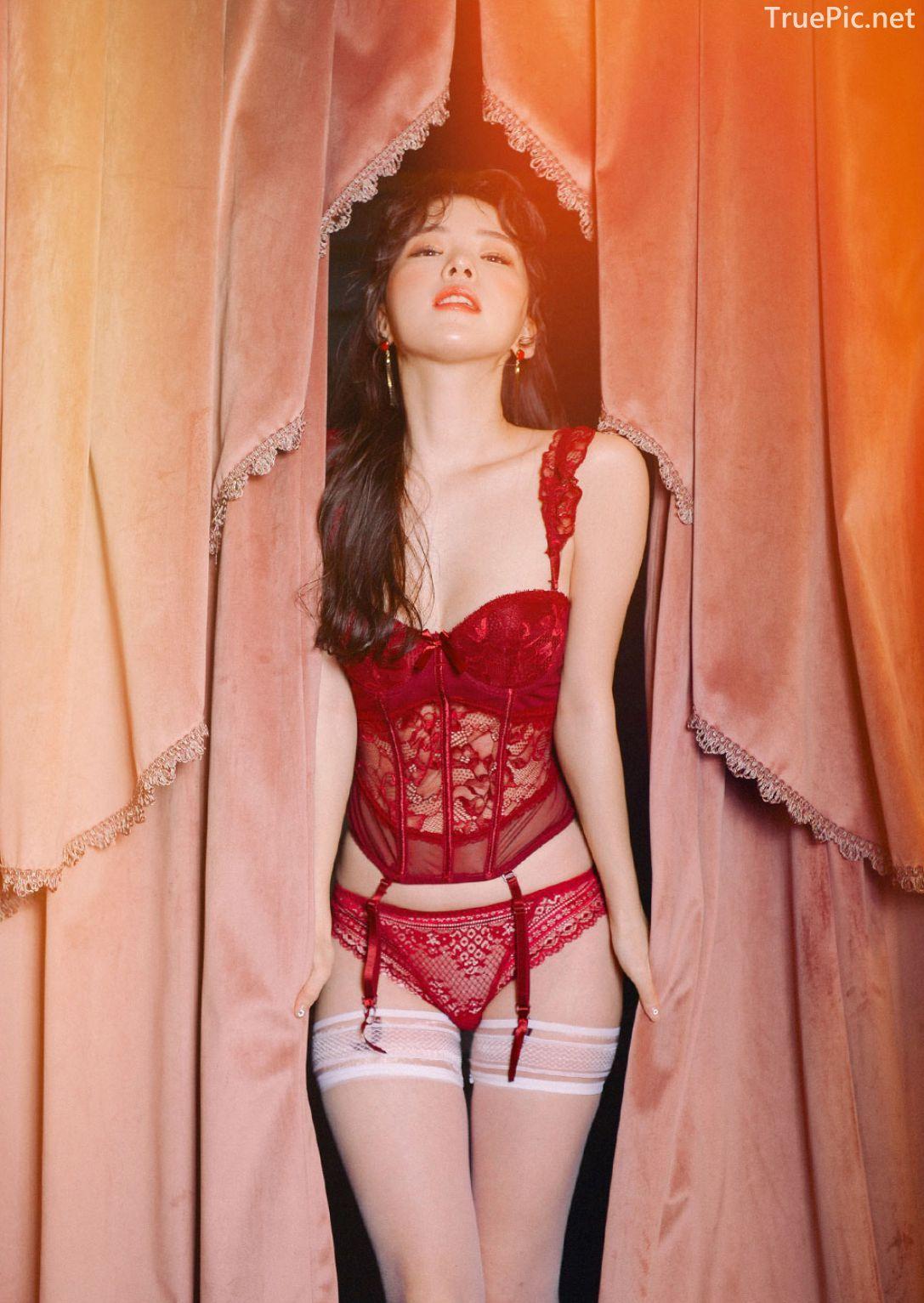 Korean lingerie queen Haneul - Valentine Sexy Lingerie Set - TruePic.net - Picture 8