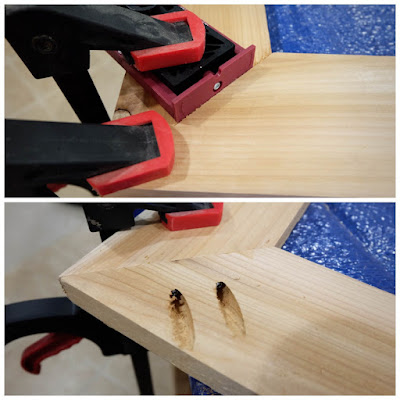 45 degree angle pocket hole jig flat butt joint