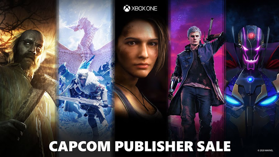 xbox capcom publisher sale 2020 biohazard 7 resident evil 3 remake monster hunter world iceborne devil may cry 5 marvel vs capcom infinite xb1 microsoft studios
