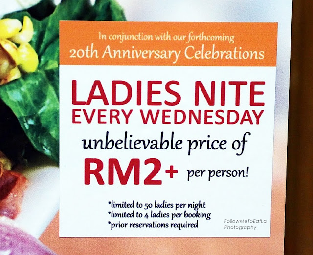 LADIES NITE PROMOTION ~ Every Wednesday RM2+
