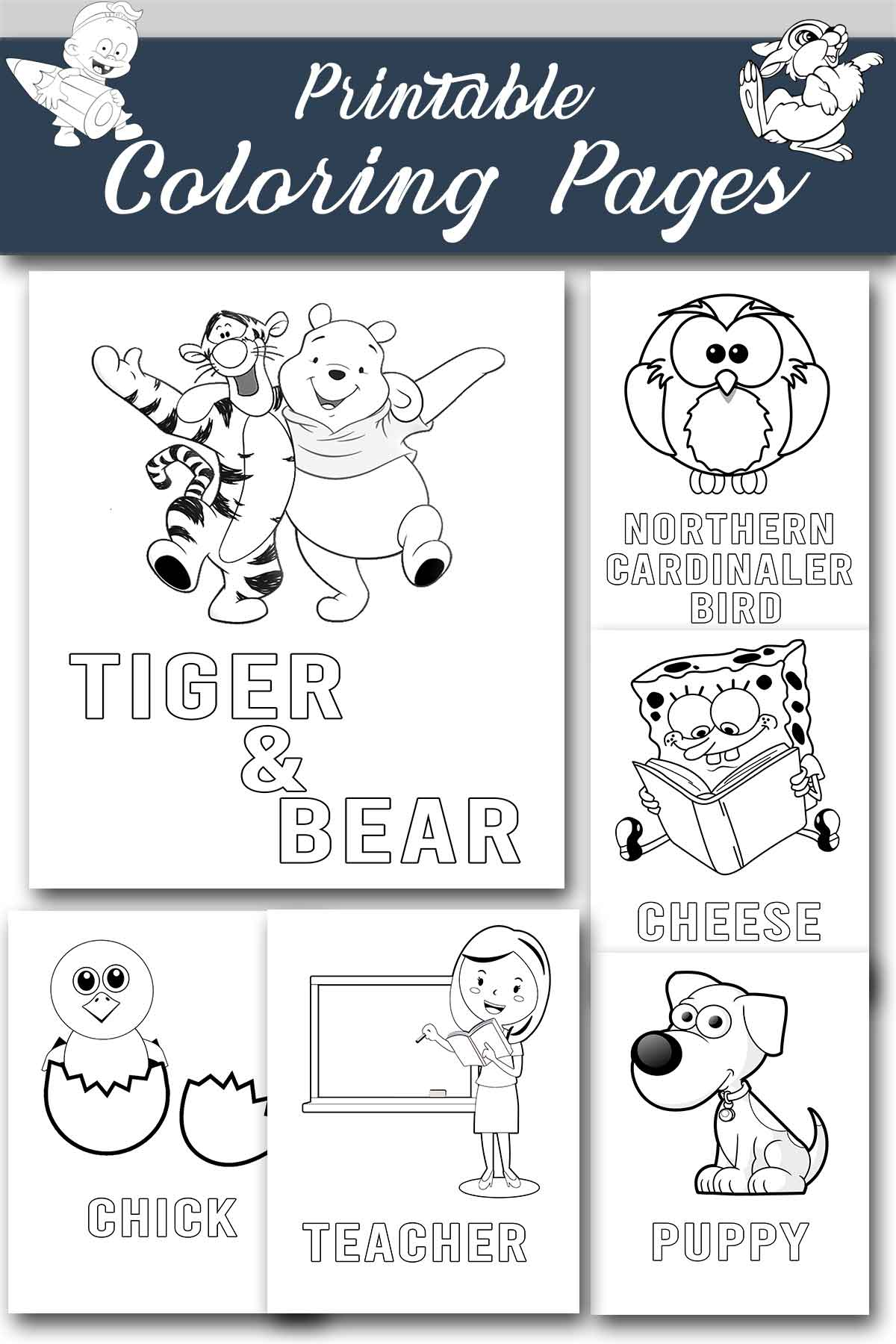 coloring pages for kids - coloring pages printable - coloring sheets