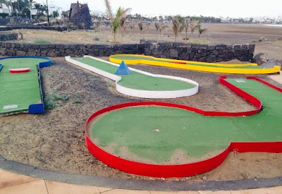 Mini Golf in Puerto del Carmen, Lanzarote. Photo by Jo Tubby, October 2014