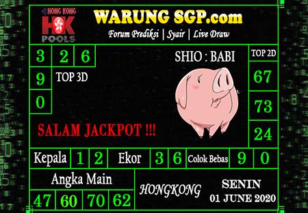 Prediksi HK Senin 01 Juni 2020 - Prediksi WarungSGP