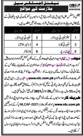 Latest Jobs in National Logistics Cell NLC 2021