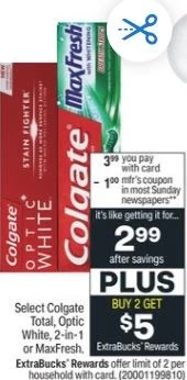 FREE Colgate Deal 3/7-3/13