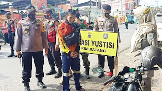 Operasi Yustisi Pengawasan Masker Selama 24 Jam