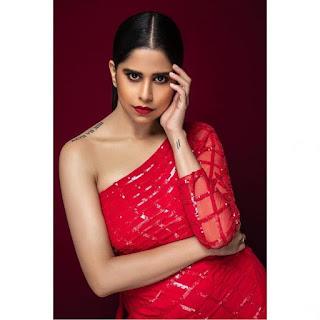 Sai-Tamhankar-looks-stunning-in-a-red-dress