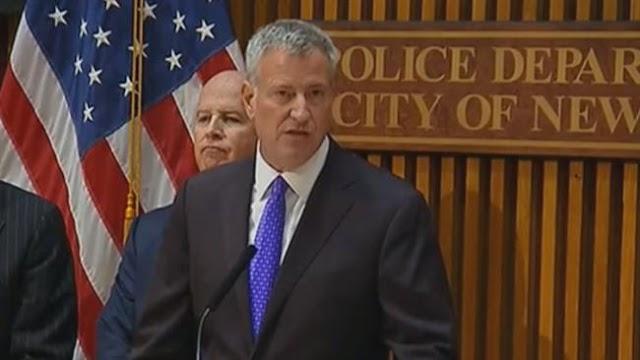 New York City Mayor Bill de Blasio says bombing act of terror