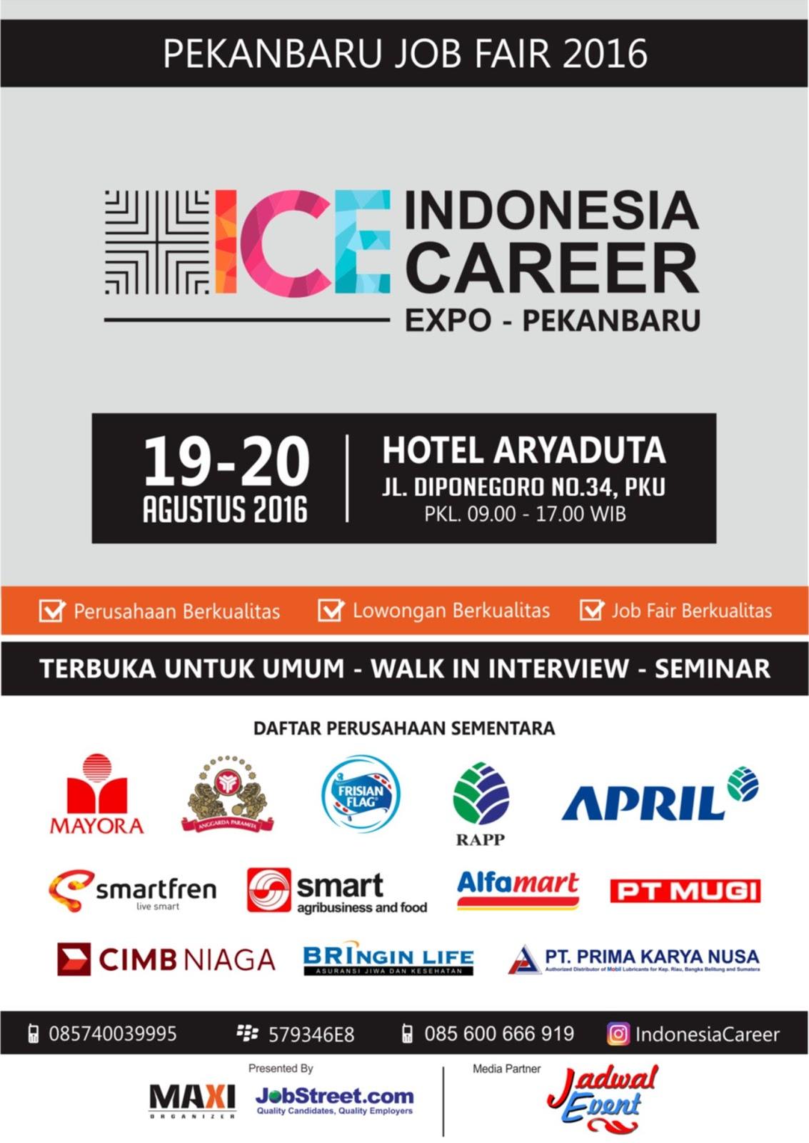 job fair pekanbaru career expo jadwal event job fair pekanbaru career expo 2016