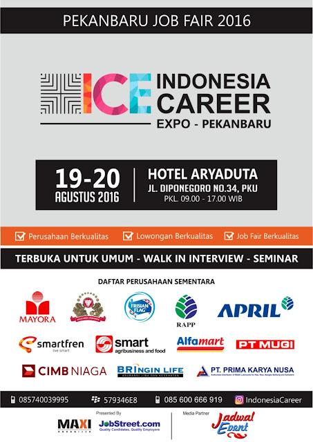 bursa kerja Pekanbaru - Indonesia Career Expo 2016