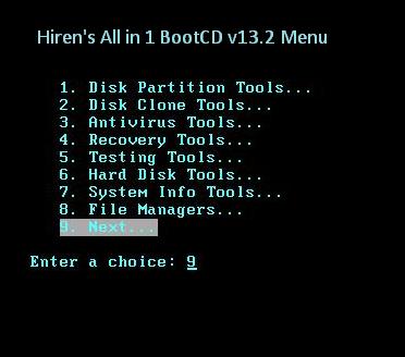 hiren boot cd 13.1