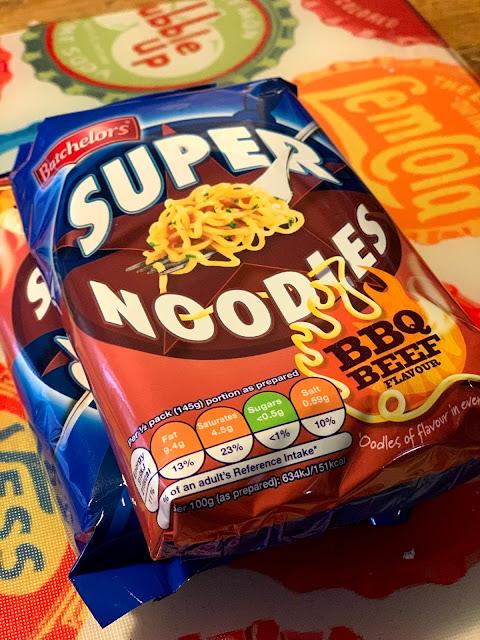 super noodles, BBQ beef