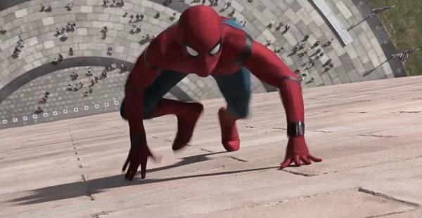 aksi spiderman homecoming