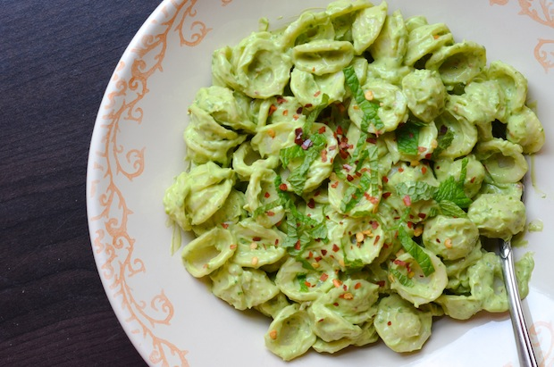 avocado mint pasta