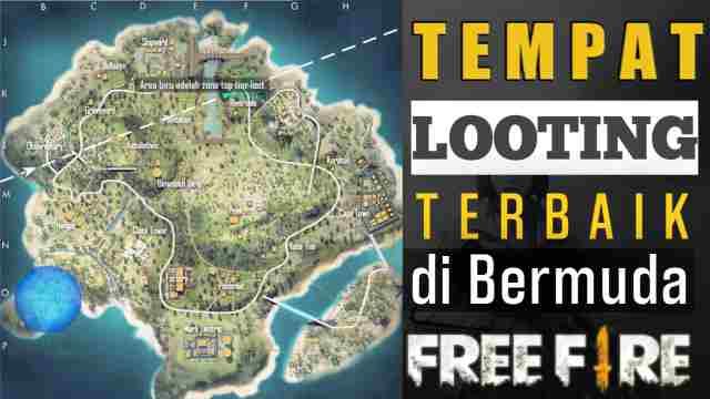 Map bermuda ff, Tempat Looting Terbaik di Map Bermuda Free Fire