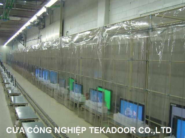màn nhựa pvc chống tĩnh điện