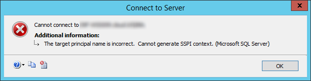 SQL Server - Dave Mason - Cannot Generate SSPI Context