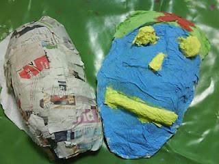 caretas de papel maché