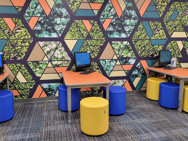 The Webster Library remodeled