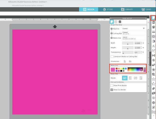 silhouette studio, silhouette studio v4.4, mockups, Page Setup Panel, Designing in Silhouette Studio