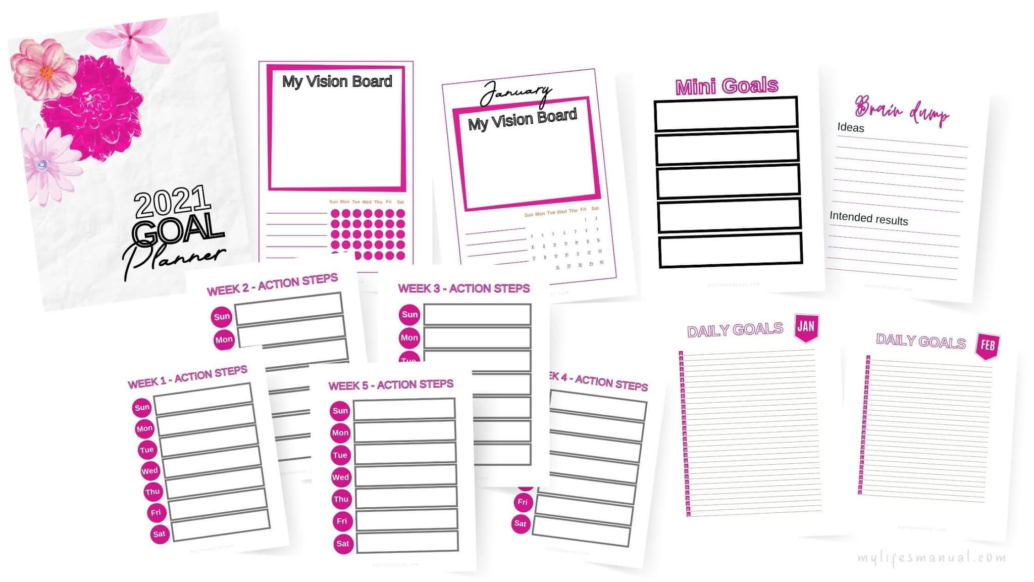 2021 Goal Planning Printables