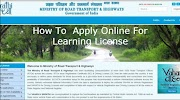 How To  Apply Online For Learning License - Review