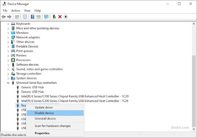 Cara Mematikan Port USB Laptop dan Komputer