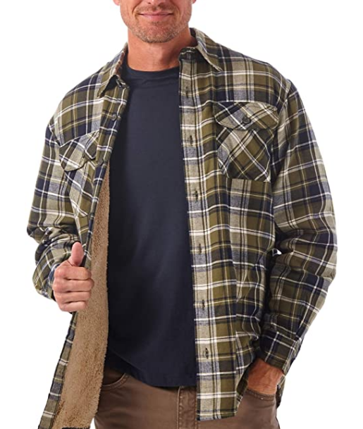 mid-weight flannel shirt