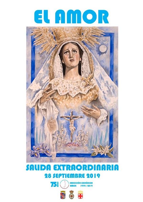 Horario, Itinerario y cartel de la Salida Extraordinaria de la Hermandad del Amor de Almeria