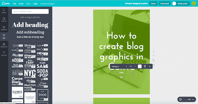 Step 5 of 7 in How to Create Blog Graphics with Canva