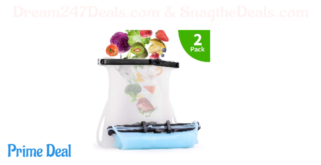 50% off FRSWAY Reusable Collapsible Silicone Food Preservation Storage Bag  (2pack)