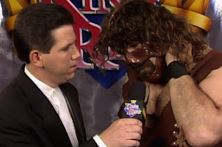 WWE / WWF - King of the Ring 1997 - Todd Pettengill interviews Mankind