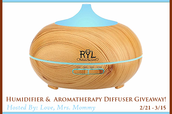 Humidifier and Aromatherapy Diffuser - Giveaway